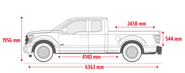 Ford F-150 supercab 8'