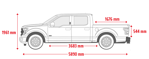 Ford F-150 supercrew 5.5'