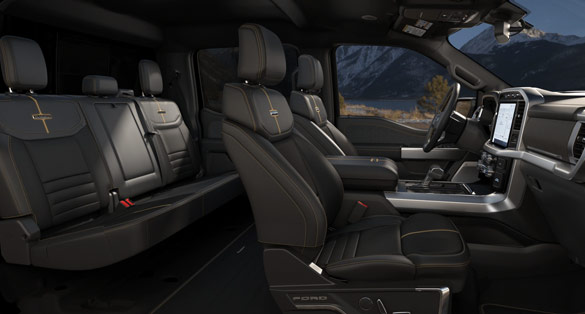 Ford F-150 Platinum interior