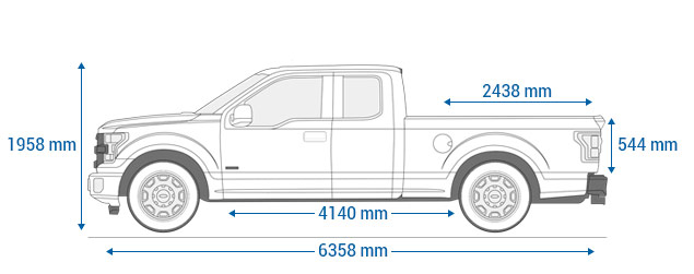 Ford F-150 supercab 8""