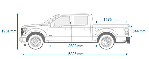 Ford F-150 supercrew 5.5""