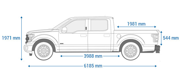 Ford F-150 supercrew 6.5""